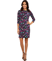 Nine West - Painted Splash Printed Ponte T-Shirt Dress