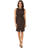 Nine West - Sequined Sleeveless Piped Sheath
