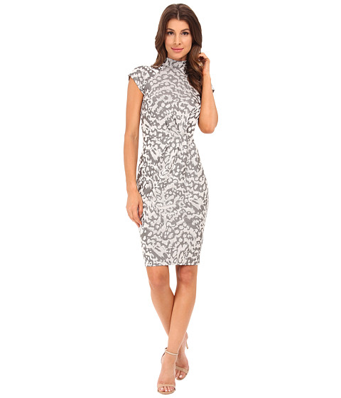 French Connection - Leo Jacquard 71EXI (Grey Otter) Women's Dress