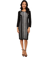 Nine West - 3/4 Sleeve Mesh Like Design Dress