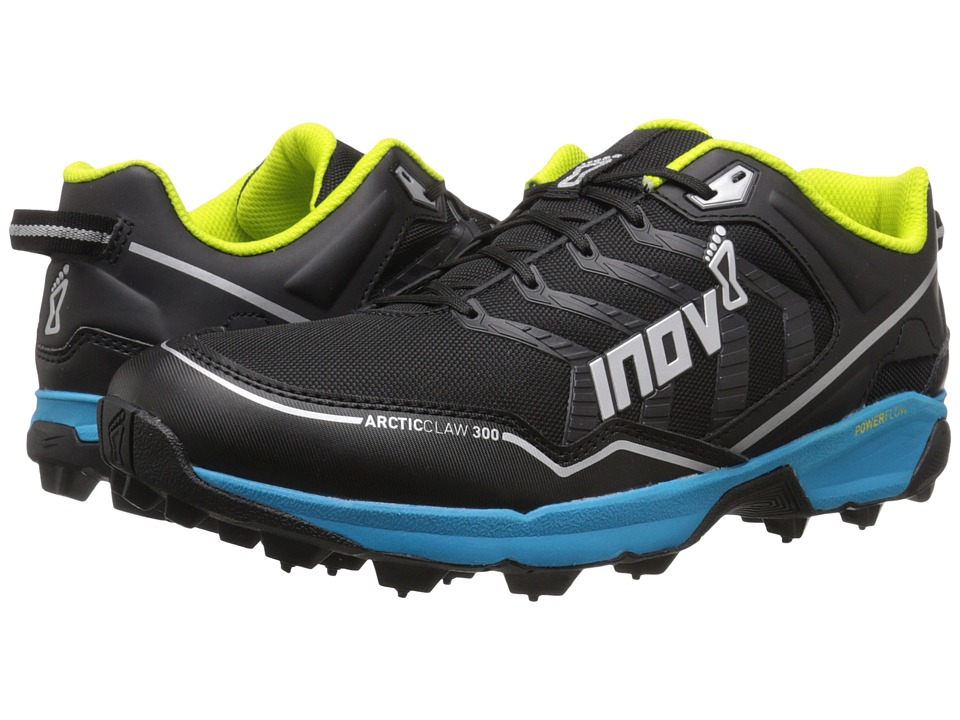 inov 8 Arctic Claw 300 Black/Blue/Silver/Lime Running Shoes