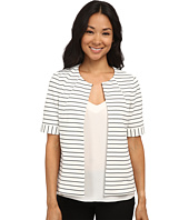 Nine West - Stripe Ponte Flyway Jacket