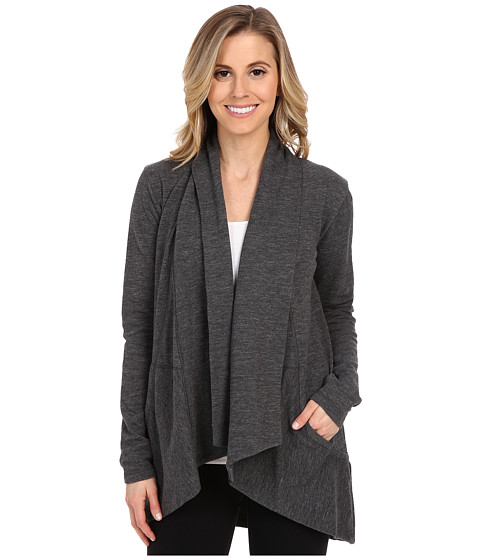 Lucy - Tranquility Slub Wrap (Asphalt Heather) Women's Sweater