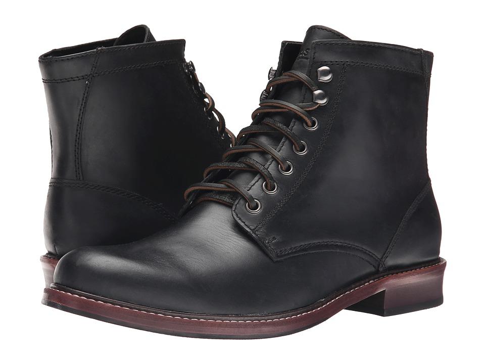 1950s Mens Shoes: Saddle Shoes, Boots, Greaser, Rockabilly Eastland 1955 Edition Elkton 1955 Black Mens  Shoes $225.00 AT vintagedancer.com