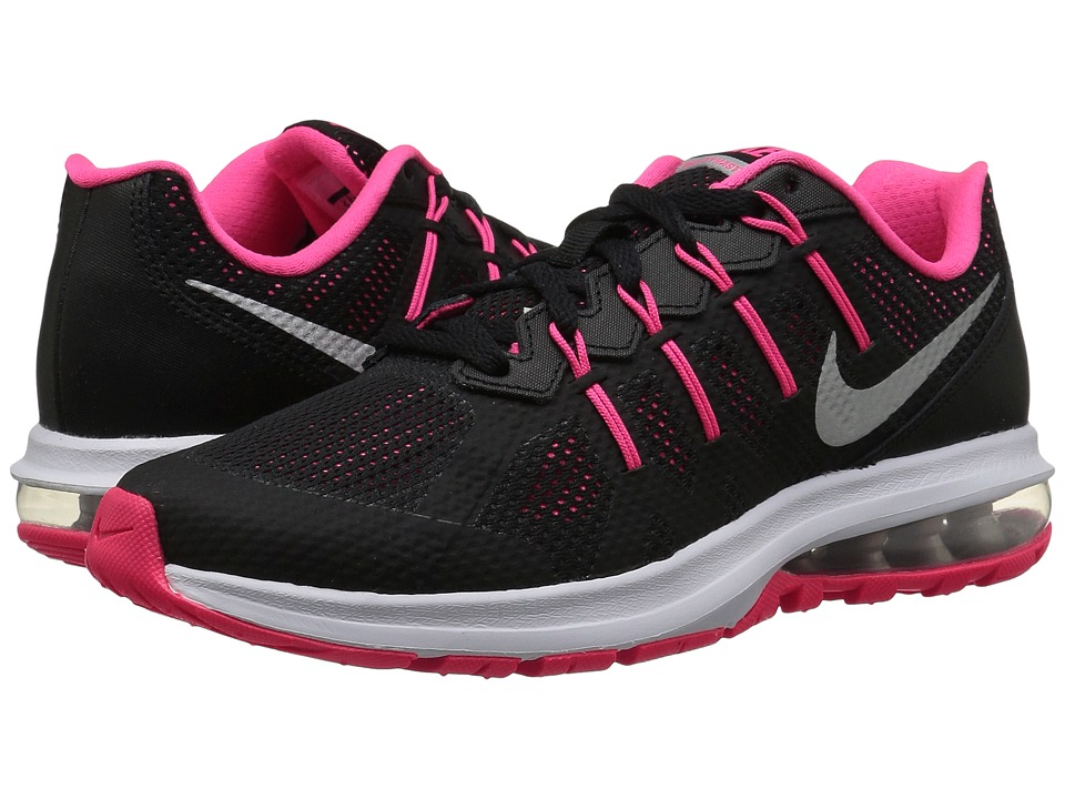 Nike Kids Air Max Dynasty (Big Kid) (Black/Hyper Pink/Wolf Grey/Metallic Silver) Girls Shoes