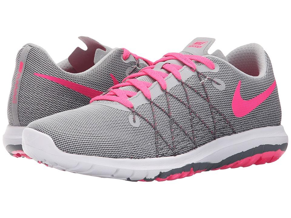 Nike Kids Flex Fury 2 (Big Kid) (Wolf Grey/Dark Grey/White/Hyper Pink) Girls Shoes