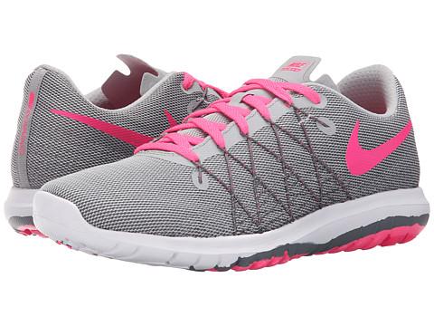 Nike Kids Flex Fury 2 (Big Kid) - Wolf Grey/Dark Grey/White/Hyper Pink
