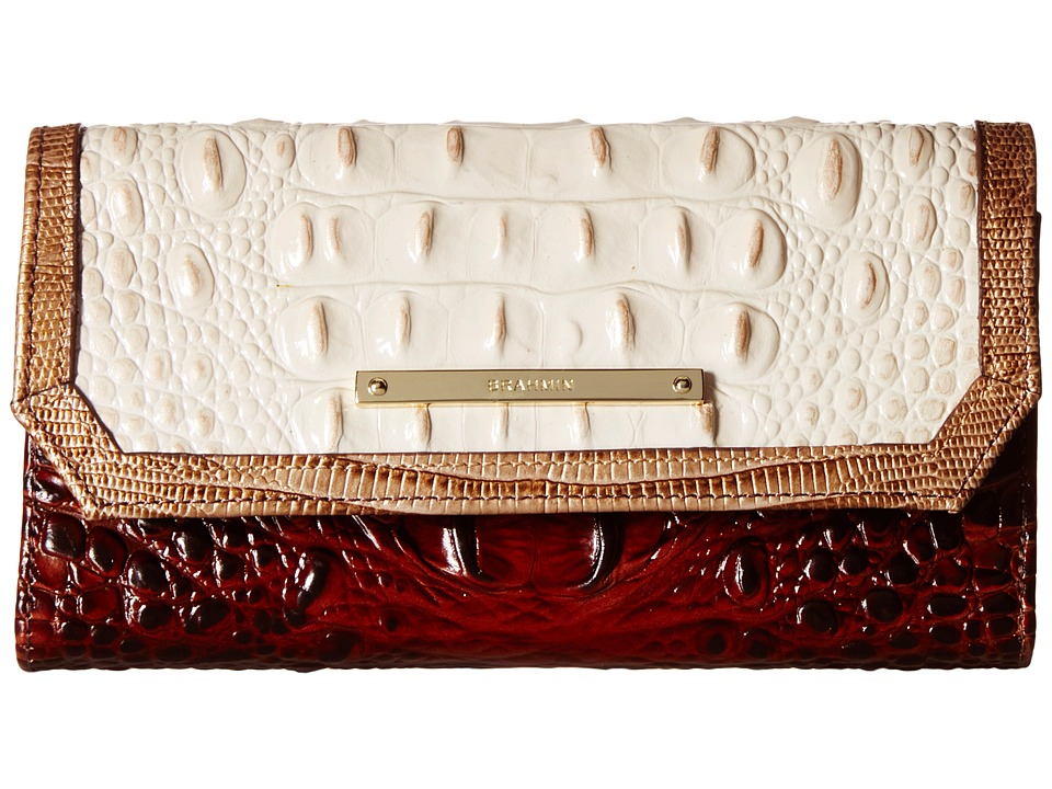 Brahmin Soft Checkbook Pecan Clutch Handbags