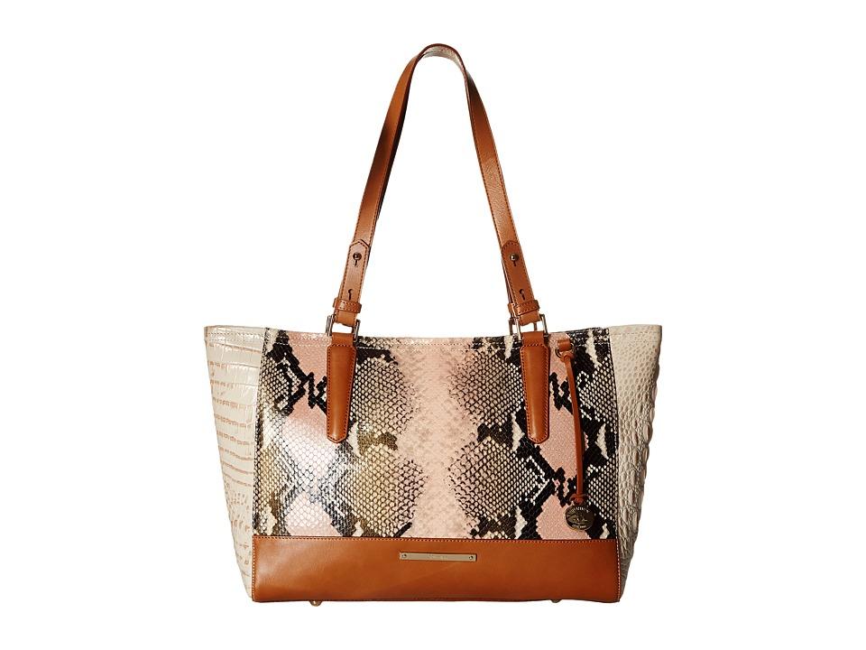 Brahmin Medium Arno Rose Tote Handbags