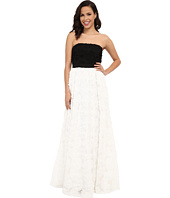 Adrianna Papell - Strapless Color Blocked Tulle and Chiffon Petal Ball Gown
