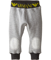 Armani Junior - Low Rise Sweat w/ Armani Logo and Knee Detail (Infant)