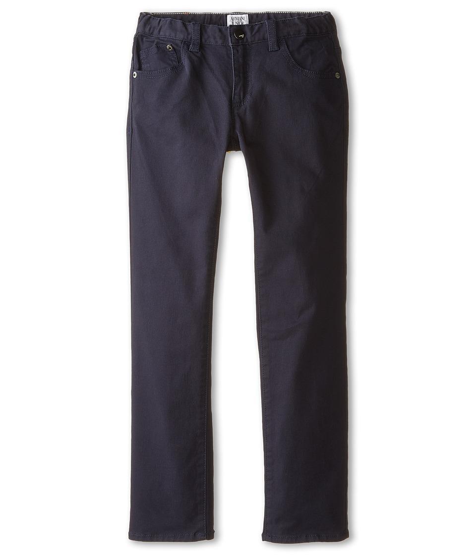 Armani Junior Basic Five Pocket Dress Pants Toddler/Little Kids Indigo Boys Dress Pants