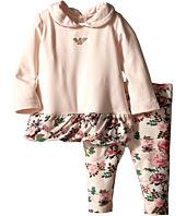 Armani Junior - Two-Piece Set: Peterpan Collar Flower Tunic w/ Floral Leggings (Infant)