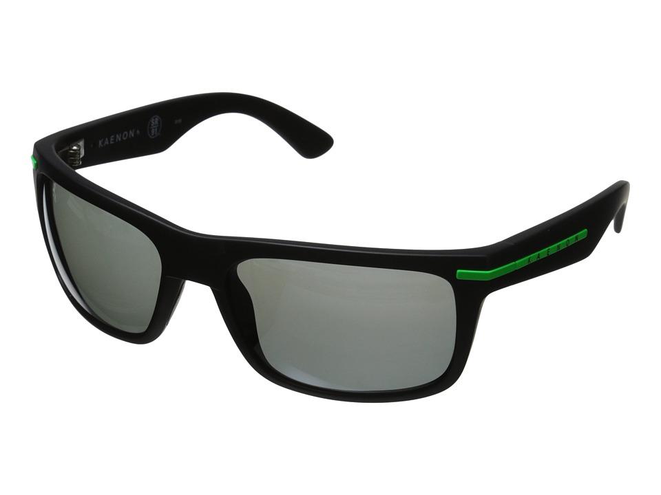 Kaenon Burnet Matte Black/Green Sport Sunglasses