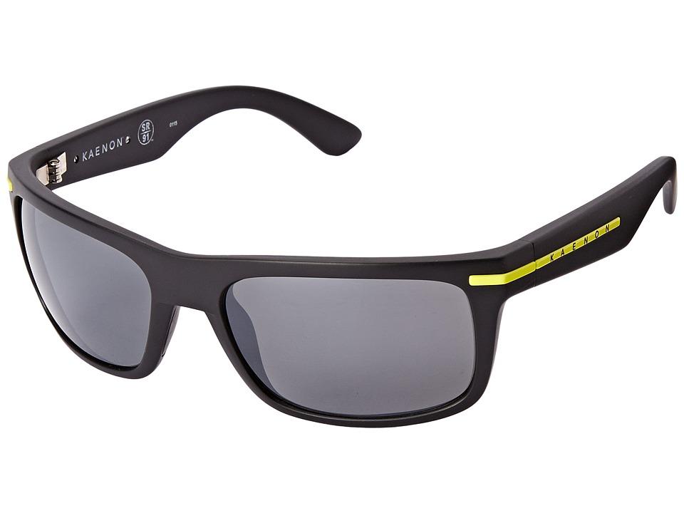Kaenon Burnet Matte Black/Yellow Sport Sunglasses