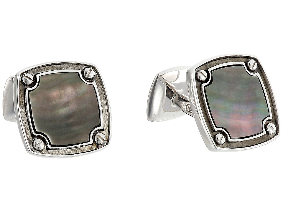 Stephen Webster England Made Me Cufflinks Black Mother of Pearl Cuff Links