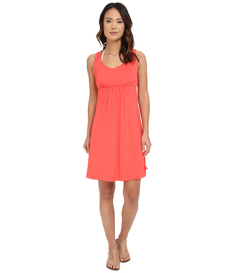 Tommy Bahama Tambour Shirred V-Neck Dress