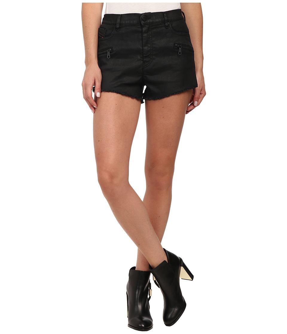 Diesel De Shozip Shorts in Denim Denim Womens Shorts