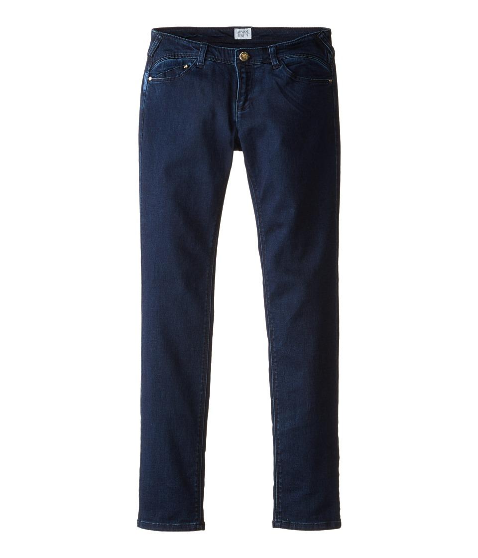 Armani Junior Dark Wash Jeggings in Navy Big Kids Navy Girls Jeans