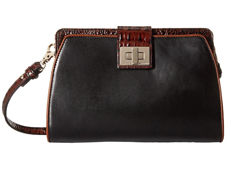 Brahmin Alena Black Cross Body Handbags