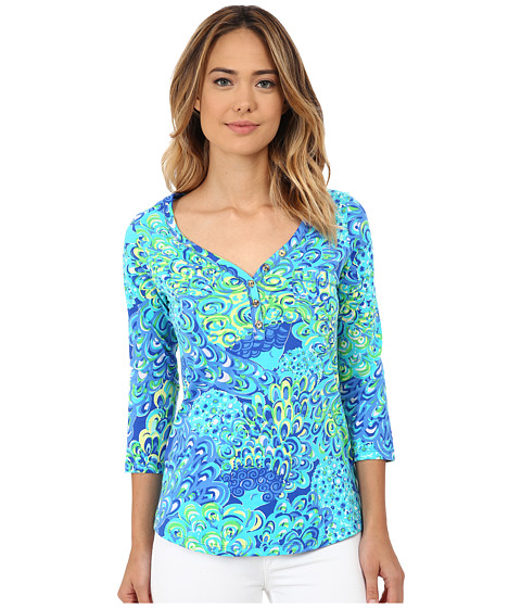 Lilly Pulitzer - Palmetto Top (Sea Blue Lillys Lagoon) Women's Clothing