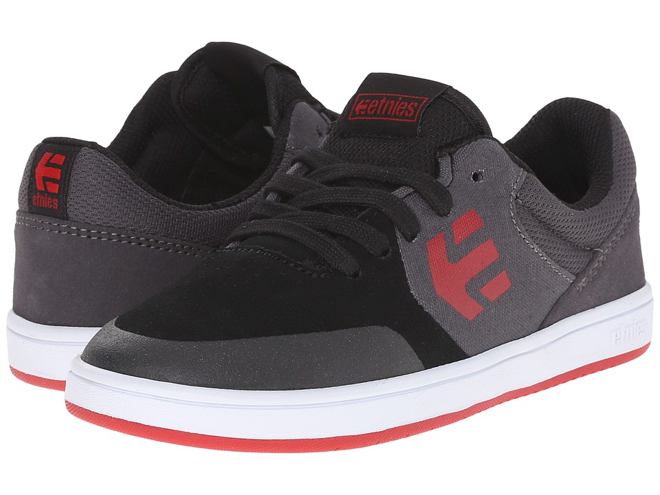 etnies Kids Marana Toddler/Little Kid/Big Kid Black/Dark Grey/Red Boys Shoes