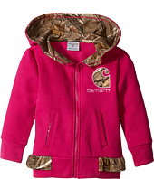 Carhartt Kids - Camo Fleece Zip Sweatshirt (Toddler)