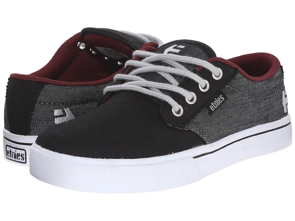 etnies Kids Jameson 2 Eco Toddler/Little Kid/Big Kid Black/Denim Canvas/Denim Boys Shoes