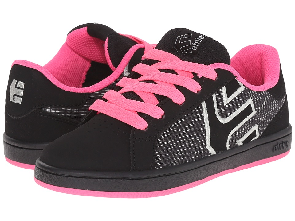 etnies Kids Fader LS Toddler/Little Kid/Big Kid Black/Pink Girls Shoes