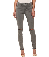 J Brand - Mid Rise Destructed Skinny Jeans in Silver Fox