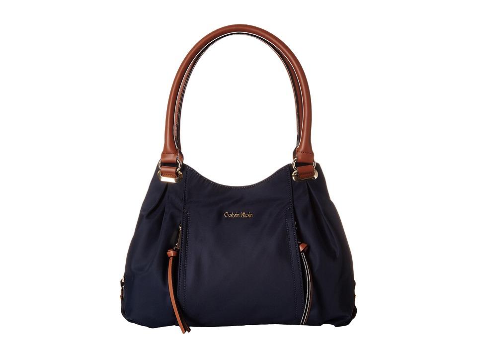Calvin Klein - Dressy Nylon Shopper (Navy) Tote Handbags