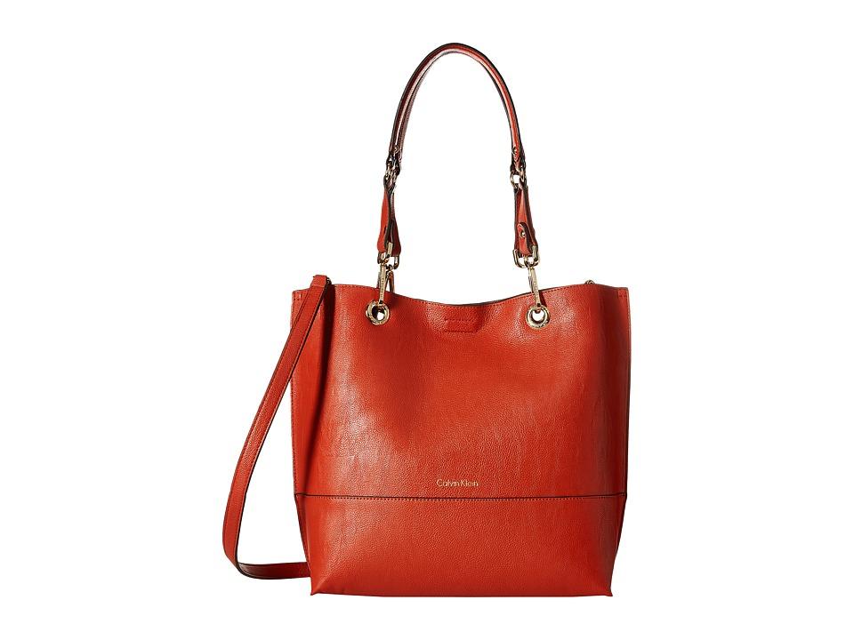 Calvin Klein - Reversible Tote (Dark Orange/Luggage) Tote Handbags