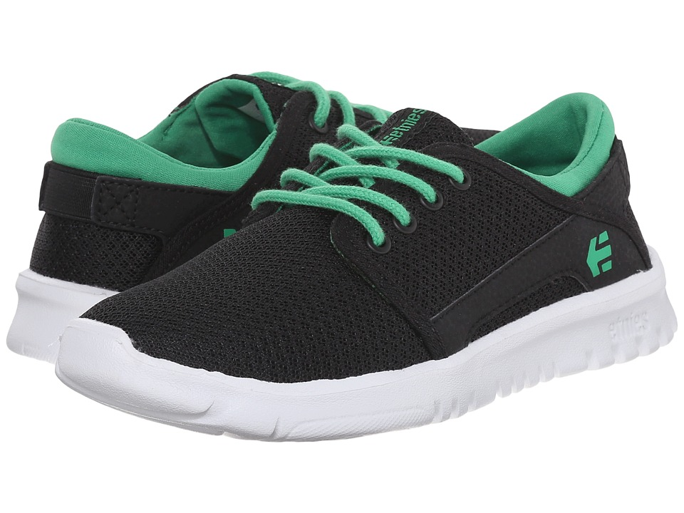 etnies Kids Scout Toddler/Little Kid/Big Kid Black/Green Boys Shoes