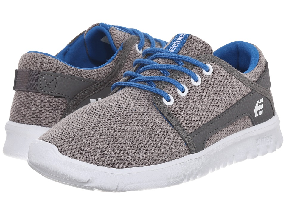 etnies Kids Scout Toddler/Little Kid/Big Kid Grey/Grey/Blue Boys Shoes