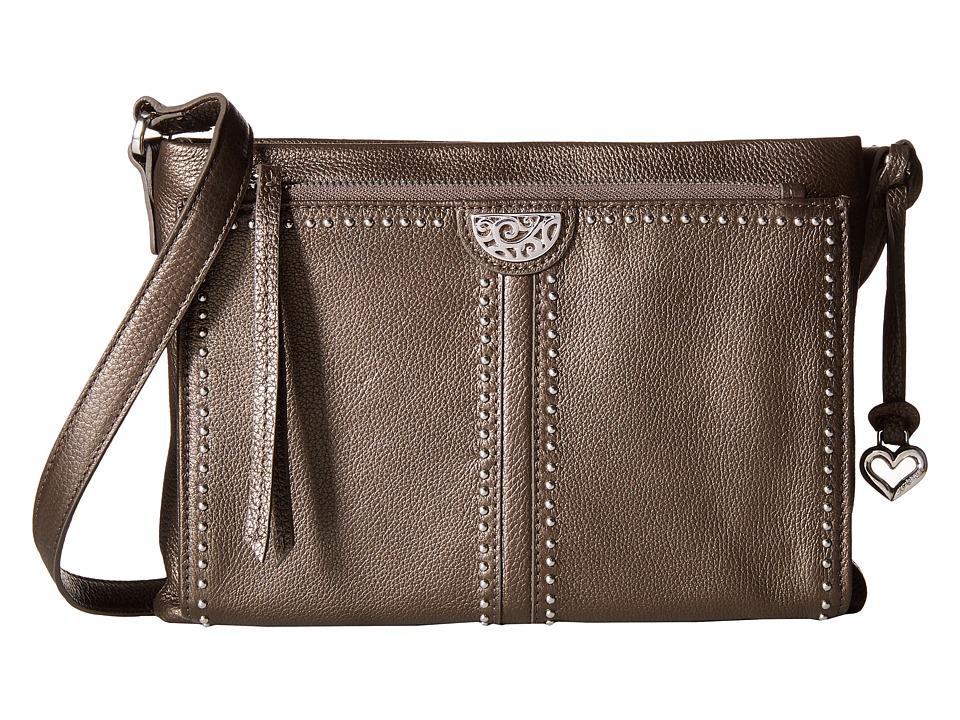 Brighton - Jagger Cross Bag Organizer (Pewter) Cross Body Handbags