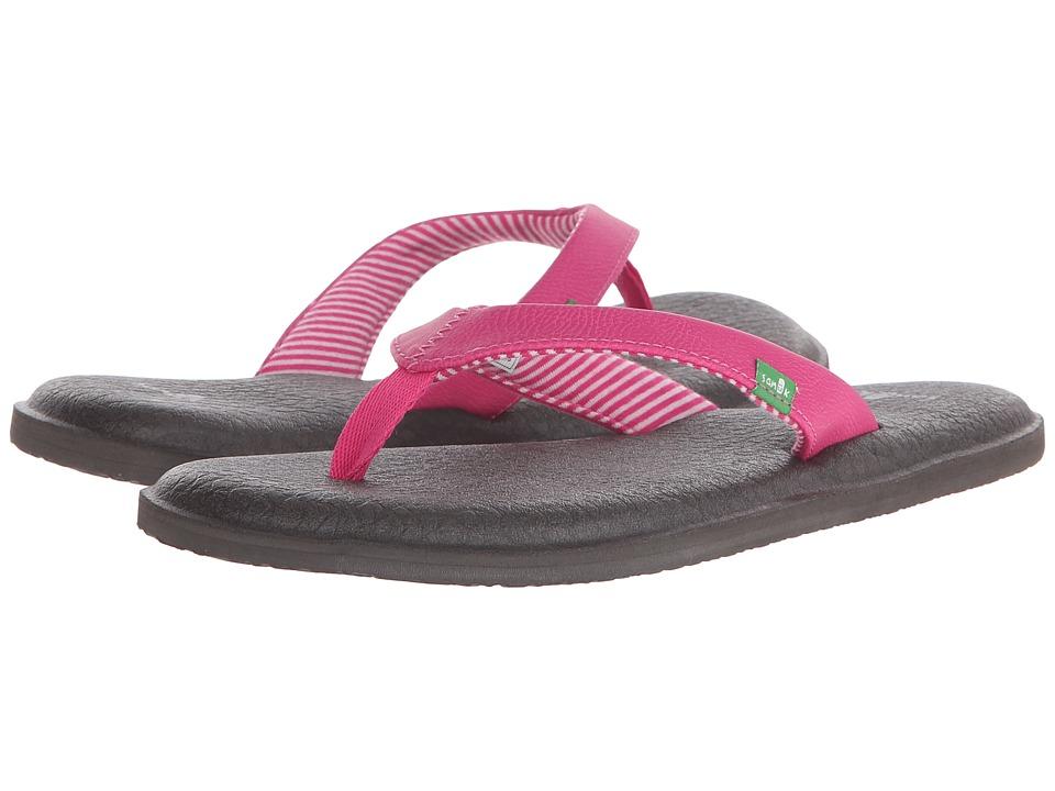 Sanuk Yoga Chakra Fuchsia Womens Sandals