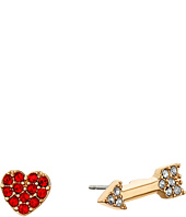 Kate Spade New York - Love List Heart and Arrow Studs Earrings