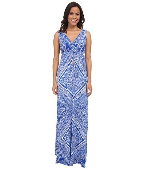 Lilly Pulitzer - Miraflora Maxi (Blue Crush Open Water Engineered) Women's Dress