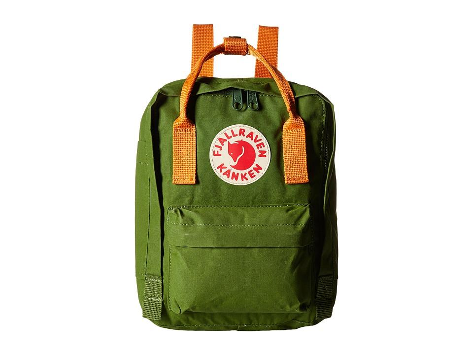 Fj llr ven K nken Mini (Leaf Green/Burnt Orange) Backpack Bags
