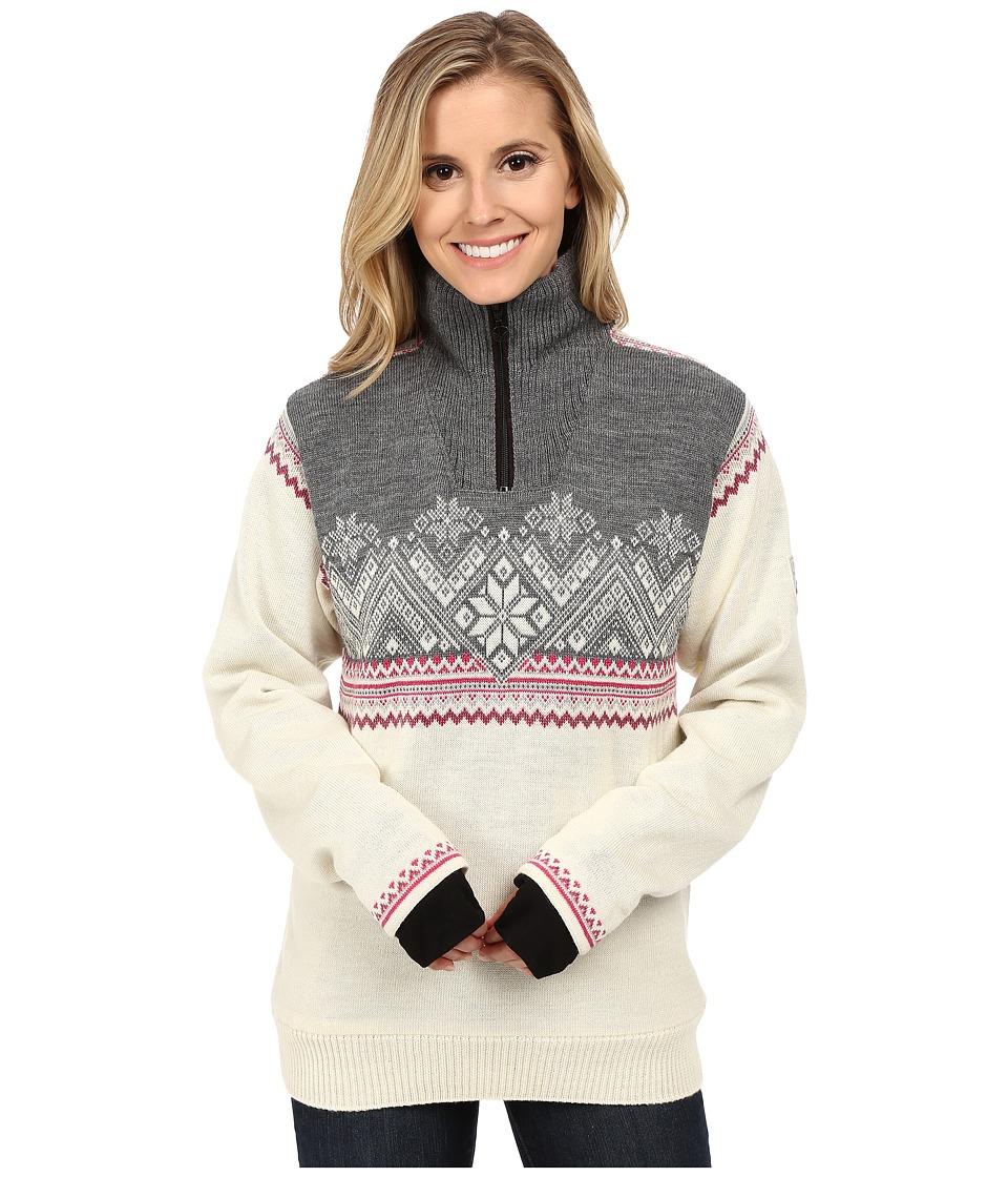 Dale of Norway - Glittertind Feminine (Off White/Light Charcoal/Allium/Smoke) Womens Sweater