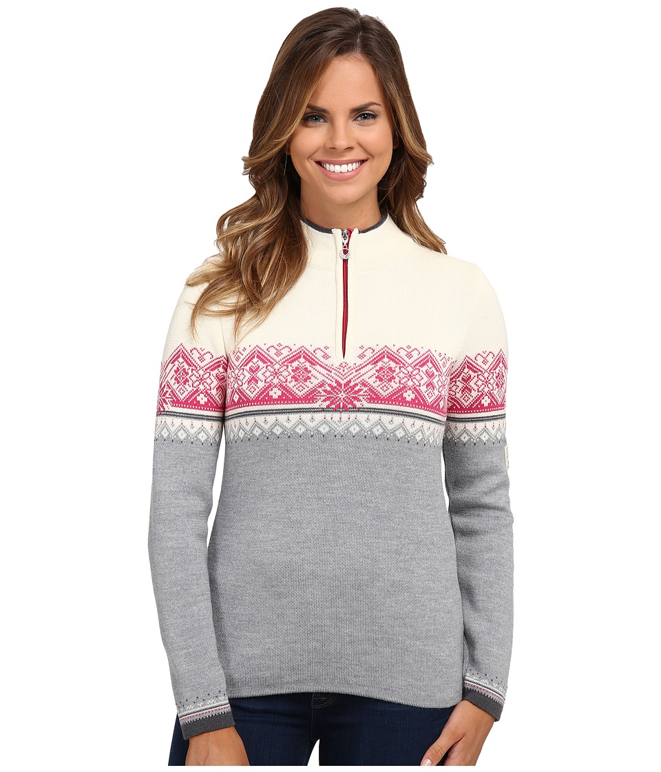 Dale of Norway - St. Moritz Feminine (Grey Mel/Schiefer/Off White/Allium) Womens Sweater