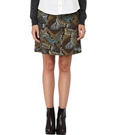 Marc by Marc Jacobs - Acanthus Army Cotton A Line Skirt