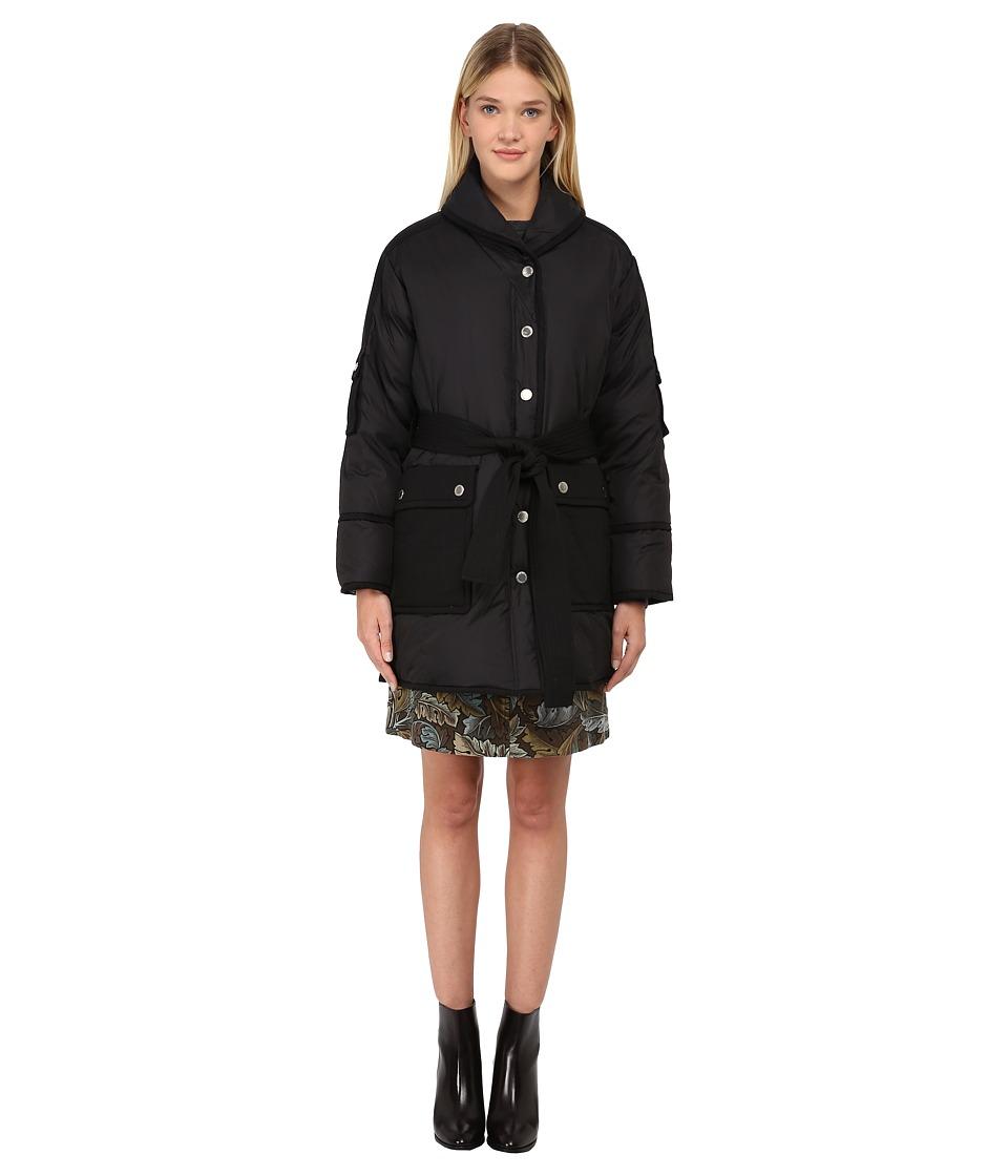 Marc by Marc Jacobs Morris Matte Blanket Puffa Jacket Black Womens Coat