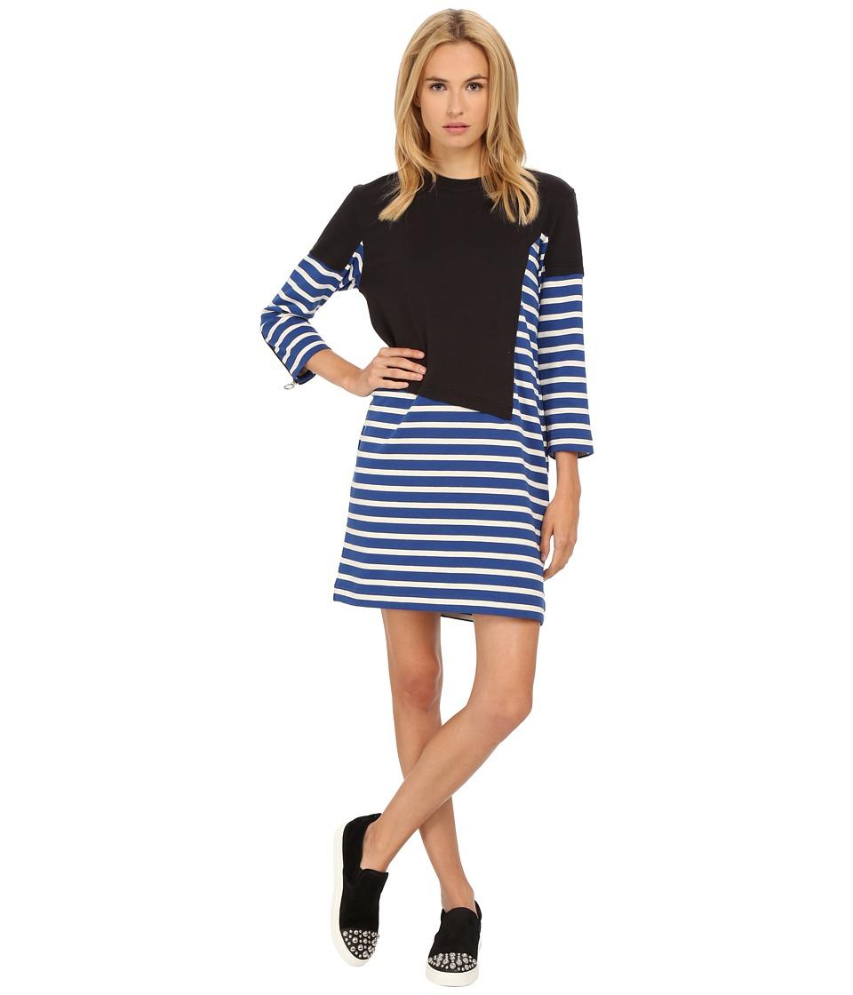 Marc by Marc Jacobs Jacquelyn Stripe 3/4 Sleeve T Shirt Dress True Blue Multi Womens Dress
