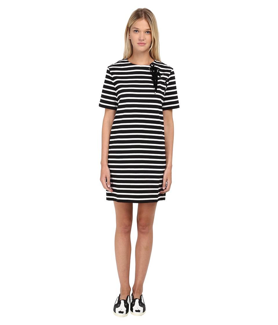 Marc by Marc Jacobs Jacquelyn Stripe Dress Black Multi Womens Dress