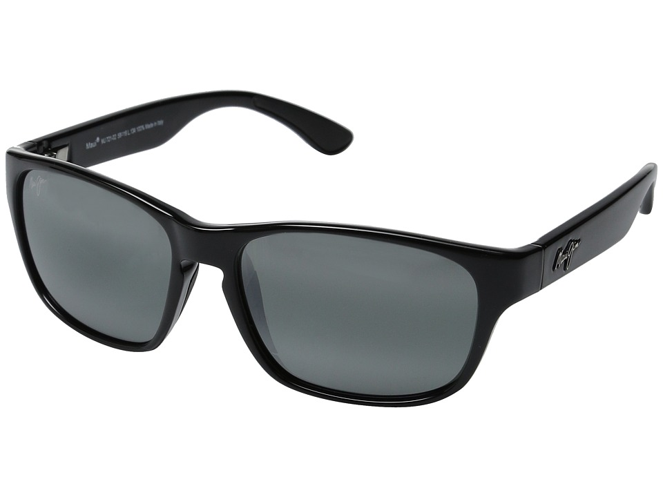 Maui Jim - Mixed Plate (Gloss Black/Neutral Grey) Fashion Sunglasses