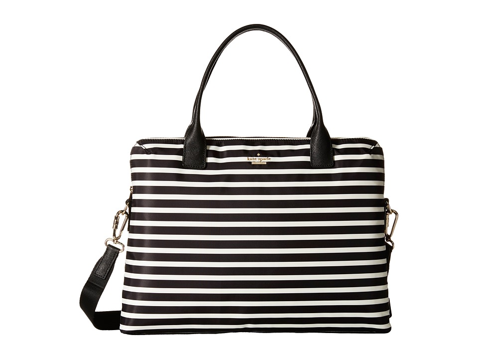 Kate Spade New York - Daveney Laptop Case 15 (Black/Clotted Cream) Computer Bags