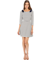Kate Spade New York - Stripe Ponte Fit and Flare Dress