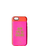 Kate Spade New York - Now You'Re Talking Resin Stowaway Phone Case for iPhone 6