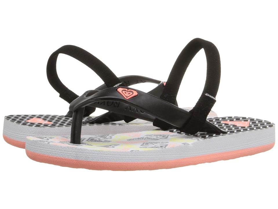 Roxy Kids - Tahiti V (Toddler) (Black Multi) Girls Shoes